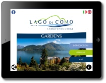 Gardens of Lake Como iPad Landscape